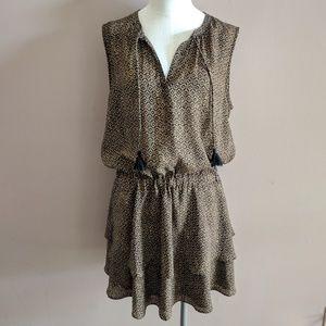 Scotch & Soda Size 2 Tassel Geo Print Tiered Dress